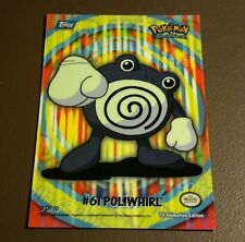 Poliwhirl Puzzle Piece Topps Pokemon Card 3 of 10 LP