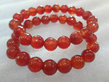 Faceted Carnelian Stone Bracelet ♥Regenerates and Gives More♥ vitality♥Joy♥