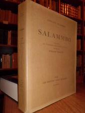 FLAUBERT Gustave.  SALAMMBO. Illustré de 22 eaux-fortes dessinées et... 1926