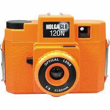 Holgaglo Orange Burst 120N Glow in Dark Medium Format Camera Holga #306-120 NEW
