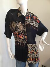 NWT GORGEOUS UNIQUE LADIES XL BLOUSE VERY FASHIONABLE MUST MUST SEE
