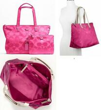 NWT Coach XL Hot Pink Duffle Getaway Nylon Packable Weekender Tote Travel 77316