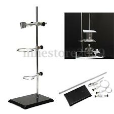 Lab Laboratory Retort Stands Support Clamp Flask Platform Set High Height 52CM