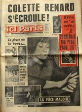 Ici paris n°1084  - 1966 - Colette Renard - Jacques Brel - Françoise Hardy -