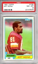 1981 Topps Art Monk PSA 8 NM-MT #194 RC Rookie