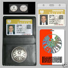 Agents of S.H.I.E.L.D. Shield Badge in Holder Phil Coulson's 2 cards+1 FREE Coin