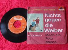 """Single 7"""" Bill Ramsey / Bibi Johns - Nichts gegen die Weiber"""