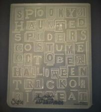Sizzix Large 4.5x5.75in Embossing Folder HALLOWEEN WORDS TIM HOLTZ fit Cuttlebug