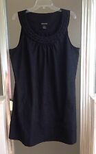 LANE BRYANT Womens Plus Size 20 Sleeveless Black Textured Tunic Shift Tank Dress