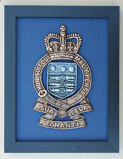 Large Scale Framed ROYAL ARMY ORDNANCE CORPS Cap Badge Plaque - RAOC
