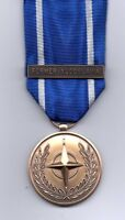 NATO MEDAL WITH CLASP; FORMER YUGOSLAVIA  MINIATURE  MEDAL