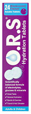 O.R.S Hydration Tablets Adults & Children 24 Blackcurrant Flavour Tablet