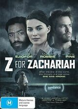 Z For Zachariah DVD Brand new & sealed, from a smoke free home. Free postage