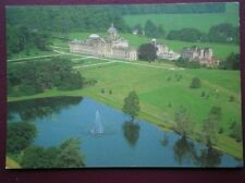 POSTCARD YORKSHIRE CASTLE HOWARD & PRINCE OF WALES FOUNTAIN