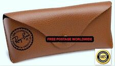 REAL RAY BAN SUNGLASSES BROWN COVER-CASE-POUCH FOR AVIATOR/CLUBMASTER/WAYFARER