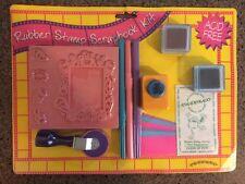 Inkadinkado Rubber Stamp Scrapbook Kit Acid Free Roller Baby NEW!!