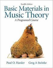 Basic Materials in Music Theory: A Programmed Approach (12th Edition), Harder, P