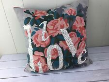 Anthropologie LOVE Trey Speegle Euro Square Pillow Case Sham Paint Number Floral