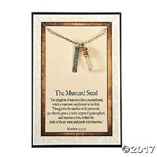 "MUSTARD SEED FAITH BLESSED NECKLACE  MUSTARD SEED 18"" MATTHEW 13:31:32"
