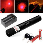 Powerful Military Red Laser Pointer Pen G303 650nm Burn Lazer +2*18650 + Charger