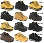 MENS SAFETY TRAINERS LEATHER STEEL TOE CAPS HIKING ANKLE BOOTS SHOES SIZE 6-13