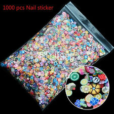 1000pcs 3D Fruit Animals Fimo Slice Clay DIY Nail Art Tips Sticker Decoration DG