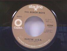 """BEACH BOYS """"SURFIN U S A / SHUT DOWN"""" 45 OLDIE"""