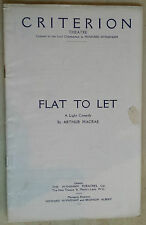 Criterion Theatre. LILIAN BRAITHWAITE - ANN TODD - EILEEN PEEL in FLAT TO LET