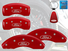 2012-2015 Ford Focus Logo Red Brake Caliper Covers Front Rear & Keychain