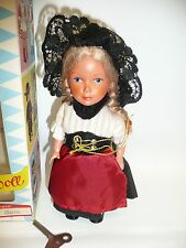 "6.5"" Sweetheart Bern 1960's Dancing Doll w/Box & Key, Still Works!"