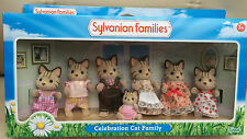 Sylvanian Families MACAVITY CELEBRATION CAT FAMILY OF 7 - EPOCH 4405 BNISB RARE