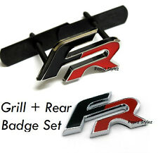 FR Grill + Rear Badge Seat Leon Ibiza Black Red Emblem Cupra Car Rear Boot  25s