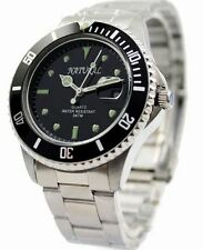 MEN STAINLESS STEEL WATER RESISTANT WATCH