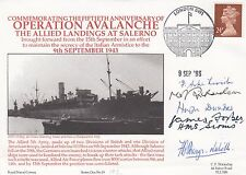 RNCH 19b HMS Hilary Operation Avalanche Signed 5 involved in the action
