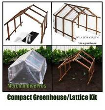 MULTI-PURPOSE COMPACT WOODEN FRAME GREENHOUSE OR LATTICE GARDEN KIT  NEW!