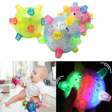 Baby Kids Classic Toy Jumping Flashing Light Up Bopper Vibrating Sound Ball New