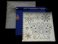 Complete Parchment Set Kit Metal Template Vellum Mat Pricking & Embossing Tool
