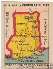 IMAGE CARD CHROMO : Gulf of Guinea Togoland Togo British Gold Coast AFRICA 1938