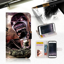 Iron Maiden Wallet TPU Case Cover For LG X Power K220-- A014