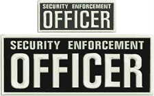 Security enforcement officer embroidery patch 4X10 and 2x5 hook white