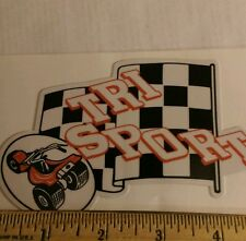 "Tri Sport mini bike decal 5"" red white and black three wheeler Alsport"