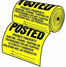 100 Private Property No Hunting Trespass Farm Ranch Land Yard Posted Sign Roll