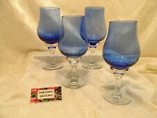 Large Cobalt Blue Water / Wine Glass set of four