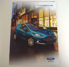 Ford . Fiesta . Ford Fiesta Van . May 2015 Sales Brochure