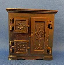 Vintage Diecast Bronzetone Metal Miniature Ice Box - Durham Ind. 1976