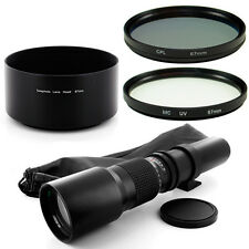 Albinar 500mm Tele Lens Filter Kit,Hood for Sony Alpha SLT A77 A65 A35 A55 A33