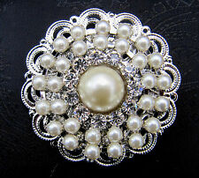 DELUXE DIAMANTE AND PEARL CIRCULAR STOCK PIN - Dressage Show
