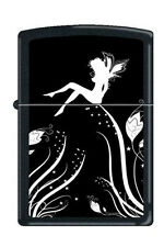 Zippo 0243 midnight fairy magic black matte RARE & DISCONTINUED Lighter
