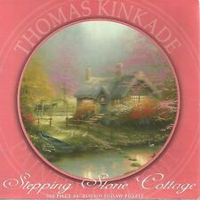 STEPPING STONE COTTAGE BY THOMAS KINKADE ROUND PUZZLE