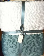 Laura Ashley Lena Quilt / Bedspread in Duck Egg Blue 200cm x 200cm  Double  NEW